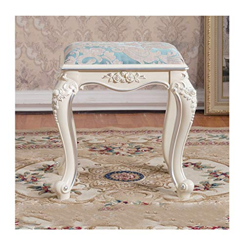 MJIA Vanity Stool Dressing Padded Chair Makeup Piano Seat With Upholstered Plastic Steel Legs Small Ottoman Footrest For Bedroom Living Room (Edition : B)