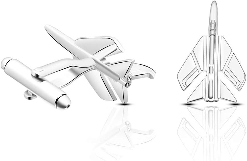 ZNBJJWCP Creative Fashion Fighter Modeling Business Gentleman Cufflinks for Mens Shirt Cuff Novelty Plane Jewelry
