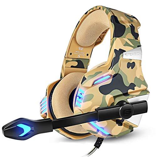 Universele Wired Headset met Microfoon Computer Hoofdtelefoon Stereo Koptelefoon voor Game Machine Desktop Laptops, Onesize, Camouflage