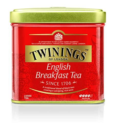 Twinings English Breakfast Tee Dose 100g, Schwarztee ∙ Voller, runder und kräftiger Schwarztee aus den besten Teegärten von Sri Lanka und Indien. Black Tea, 6er Pack (6 x 100 g)