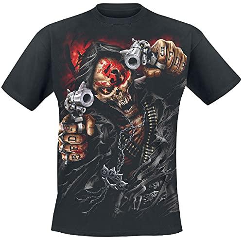 Five Finger Death Punch Assassin Homme T-Shirt Manches Courtes Noir L