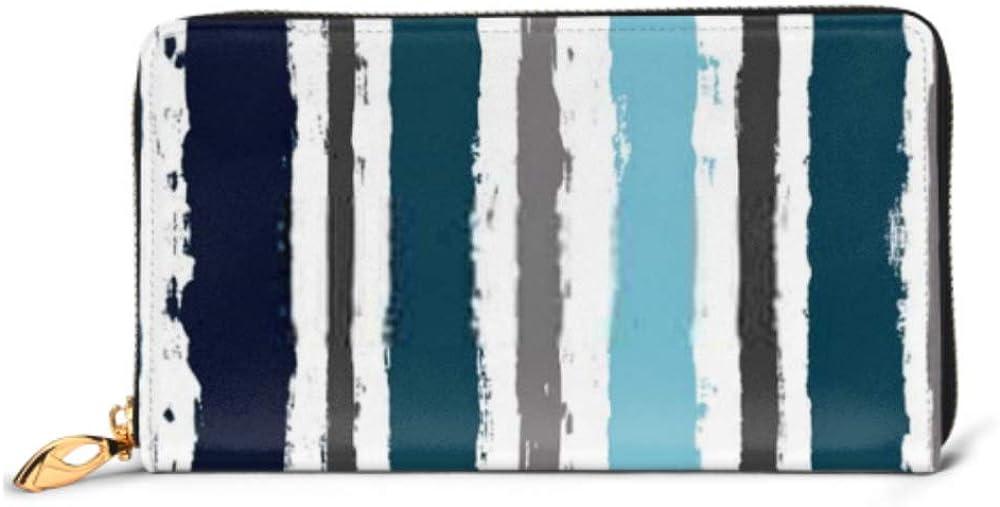 Fashion Handbag Zipper Wallet Paint Lines Seamless Pattern Vector Striped Phone Clutch Purse Evening Clutch Blocking Leather Wallet Multi Card Orga
