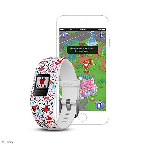 Garmin Vívofit Jr 2, Kids Fitness/Activity Tracker, 1-Year Battery Life, Adjustable Band, Disney Minnie Mouse - White (010-01909-30) Image