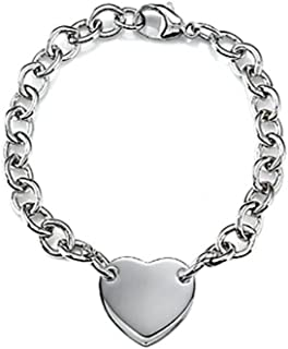 Finejewelers Sterling Silver 8 inches Heart Charm Bracelet