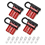 Coitak 50A 6-10 Gauge Battery Quick Connect Disconnect Wire Harness Plug, 4 PCS Battery Cable Quick Connectors for Recovery Winch Solar Power System