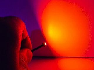 LEDLUX PL1235R - 10 bombillas micro LED con cable de 12 V SMD 3528 para coche (rojo)
