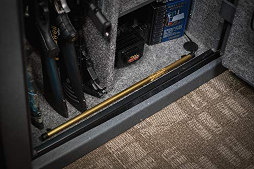 """Lockdown goldenrod dehumidifier rod with low profile design and easy installation and operation for vault humidity… 5 specs: 12"""" l, 110-120 volt ac plug, 6 foot cord, protects up to 100 cubic feet, has a lifetime warranty and is made in the usa ease of use: rod features attachable legs for placement and a cord with a quick plug attachment to allow for the cord to be ran through the back of the safe and then plugged in non-destructive: removes moisture from the air in the gun safe to prevent rust build up"""