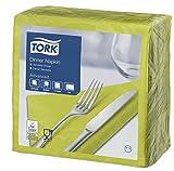 Tork 477900 Tovagliolo Dinner lime Advanced, 2 veli, piegato in 4, 12 pacchi x 150 tovaglioli (1800 pz), 39 cm (lungh.) x 39 cm (largh.)