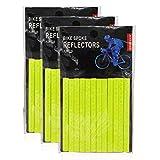 Jcstarrie - Riflettore per bici da bicicletta MTB con raggi catarifrangenti a clip per bambini e adulti, facile da montare 36 pezzi