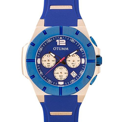 Otumm Speedster oro rosa 004blu lunetta 45mm blu orologio da polso unisex Speedster