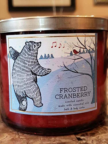 White Barn Bath and Body Works Frosted Cranberry 3-Wick Scented Candle 14.5 oz