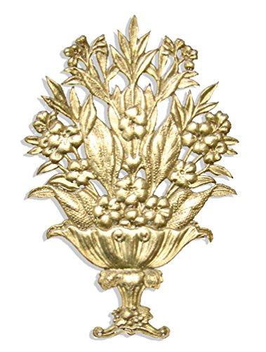 Kunze Blumen Gebinde, Kaschiertes Papier, Gold, 4.5 x 7 x 0.05 cm