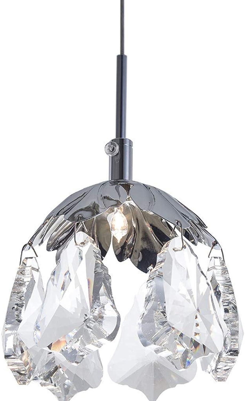 XFZ LED 3W Pendelleuchte Kreative Hngelampe Wohnzimmer Esszimmer Restaurant Schlafzimmer Studie Deckenbeleuchtung Moderne Kristall Edelstahl Dekorative Pendelleuchte 13cm  H10cm Warmes Licht 3000K