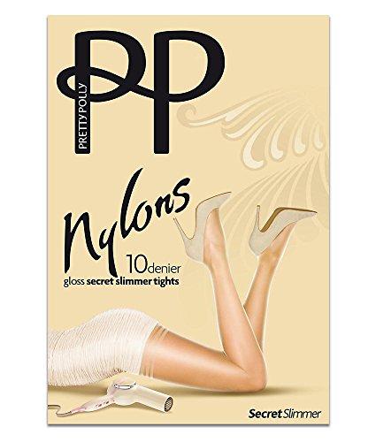Pretty Polly Nylons Gloss Secret Slimmer Pantyhose, S/M, Nude