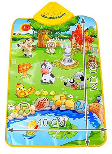ISO TRADE Tapis pédagogique Musical - Jeu de Ferme Amusant - bruits d'animaux Animaux Effets sonores légers Couverture pour bébé 4690