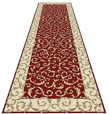 Langer Flur Halle Läufer schmale Teppiche Runner Rug Hall Teppich, rote rutschfeste Bereich Teppiche Cuttable Rand Superfine Faser weiche Antistatik für Wohnzimmer Wohnküche Dekoration Mode