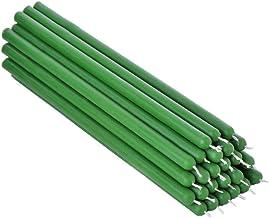 25 Candele in Cera dapi Verde Candele da tavola Senza fuliggine lavorate a Mano NKlaus