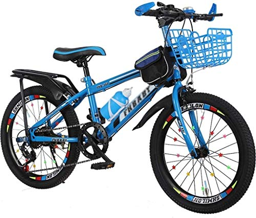 Fahrräder Fahrrad Kind / 18inch / 20inch / 22inch-Jungen-Mädchen-Fahrrad-Student Travel Fahrrad Variable Speed Customization Fahrrad 5 ~ 15 Jahre Im Freien lalay ( Color : Blue , Size : 18inches )
