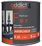 ADDICT PEINTURE FER 0.5 L noir mat