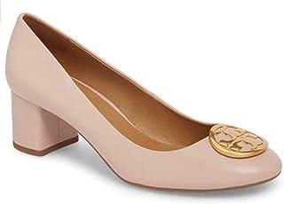 Tory Burch Benton 50MM Pump Nappa Leather Shoes, Sea Shell Pink, 9
