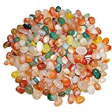 Piedras decorativas al aire libre guijarros de jardín piedra grava de aproximadamente 0,5 – 1 cm de grava mezclada de río para relleno de jarrón, macetas, paisajismo, acuarios, hogar y jardín