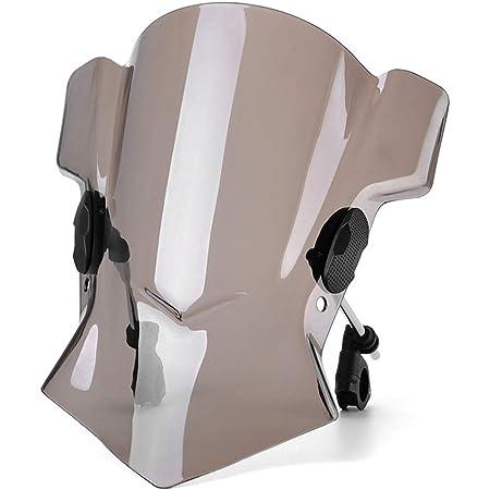 Universal Abs Windabweiser Aus Kunststoff Einstellbar Straßenrad Windschutzscheibe Dirt Bike Windschutzscheibe Für Yamaha Für Kawasaki Für Ducati Schwarz Auto