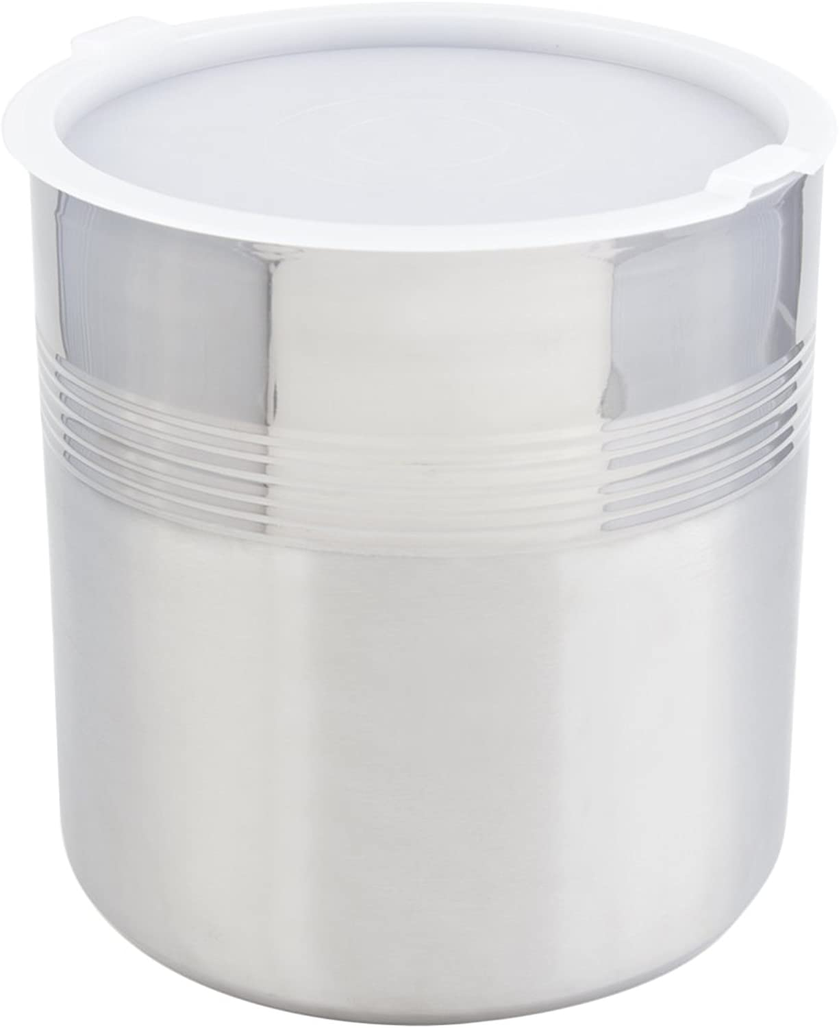 Bon Chef 9321 Stainless Steel 3 Wall Cold Wave Ice Cream Container with Cover, 3 gal Capacity, 10-1 2  Diameter x 11-1 2  Height