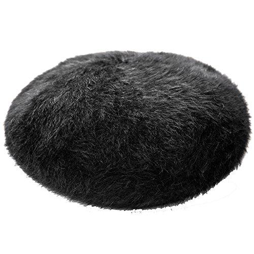 Insun Insun Damen Hut Baskenmütze Barett Winter Flauschig Beanie Damen Mütze Schwarz
