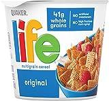 Quaker Life Original Multigrain Breakfast Cereal, 12 Individual Cups, 2.29 oz (Pack of 12)