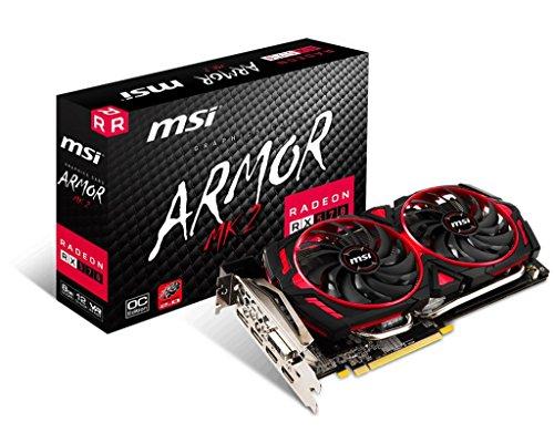 MSI游戏Radeon RX 570 256位8GB GDRR5 DirectX 12 VR Ready CFX Graphcis卡(RX 570 ARMOR MK2 8G OC)