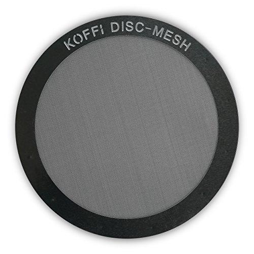 KOFFI ® DISC - Metall Filter für AeroPress - Wieder verwendbar – Ultra Feine Edelstahl Netzscheibe – Für invertiertes Brühen