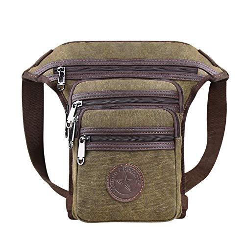 Genda 2Archer - Bolsa riñonera de lona para la cintura o la pierna, con bolsillos, ligera, ideal para senderismo
