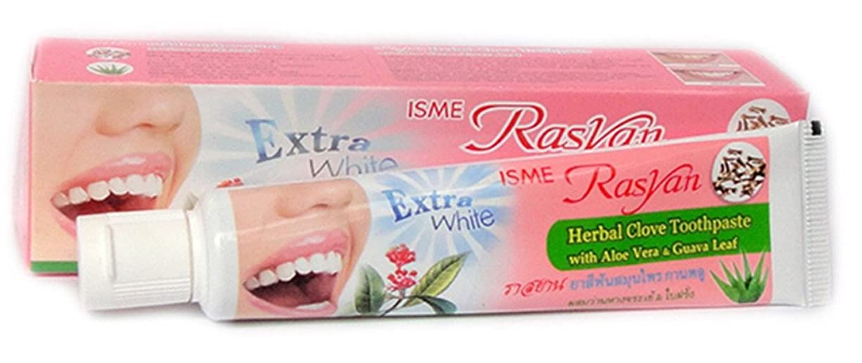 娘篭時計練り歯磨き ハーブ Thai Herbal Rasyan Herbal Clove Toothpaste (100 Gram Size)