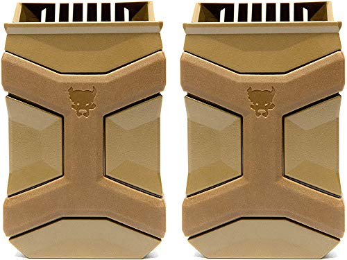 PITBULL TACTICAL Universal Mag Carrier Gen 2, Single or Double Stack Mag Pouch, Dark Earth (2-Pack)