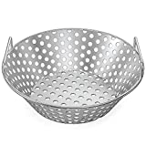 Skyflame 14 Inch Stainless Steel Kick Ash Charcoal Basket Accessories for Kamado Joe Classic   Large...