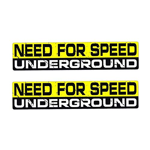 2 x 15 cm x 3,2 cm Creative NEED FOR Speed UNDERGROUND PVC Decal Car Sticker 12-0005
