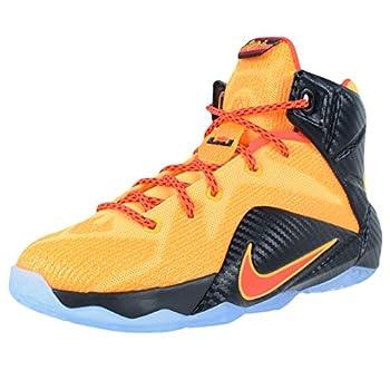 Nike LeBron XII  GS  Big Kids Basketball Shoe  6 Laser Orange / Bright Crimson