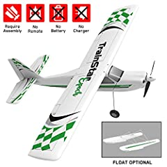 TrainStar Epoch rc trainer plane with 1.1m wings have good performance and provide a quick and easy way to learn and experience the thrill of RC soaring or relax with a quick flight. DURABLE MATERIAL BRINGS LONG LIFE TIME: Strong blow ABS plastic fus...