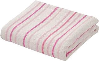 先染めストライプ柄タオルケット 綿100% タオルケット ストライプ コットン100% 綿 コットン (シングル, ピンク)