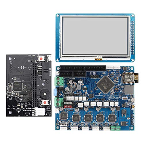 H HILABEE Imprimante 3D - Carte De Commande Duet 2 WiFi V1.04 Cloné DuetWifi Advanced 32 Bits avec Contrôleur D'écran De Presse PanelDue De 4,3 Pouces
