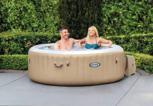 Intex PureSpa Bubble Massage Set, Ø 196 cm x 71 cm Whirlpool, Beige, Ø 196 x 71 cm