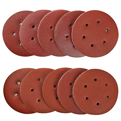 WY-YAN HZR 100Pcs 6 Grit 40-2000 Sanding Discs Pad 6-Hole Kit for Drill Grinder Rotary Tools Hook&Loop Lumina Sander Sand Paper
