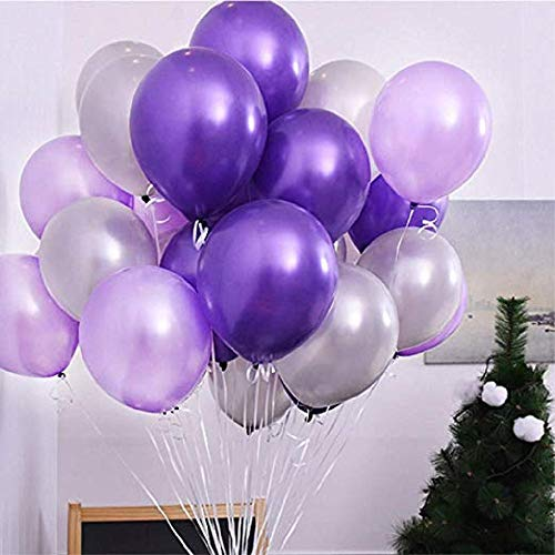 Bayin Party Balloons 10 Inch Purple Latex Balloon (100 Pack) for Wedding, Birthday Party, Lavendar Party Balloons Bulk