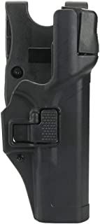 KRYDEX for Glock 19 Holster,Serpa Level 3 Right Hand Pistol Holster +Jacket Slot for Glock 17 19 22 23 31 32