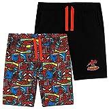 Spiderman Pantalones Cortos Niño, Pack De Pantalon Corto, Bermudas Niño, Regalo De Cumpleaños Niños, Tallas 2-14 Años (Rojo/Negro, 3-4 años)