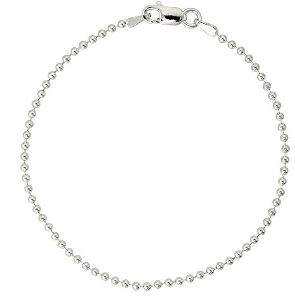 Sterling Silver Bracelet Pallini Bead Ball 7 inch Dainty Cute Chain for Women Girls Anniversary Birthday Mother's Gifts SB1-B ixbrwfbb9202