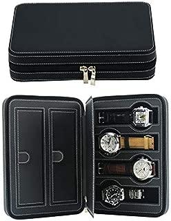 Decorebay Travel Size Luxury Leather Watch and Jewelry Box Gift (Be Mine)