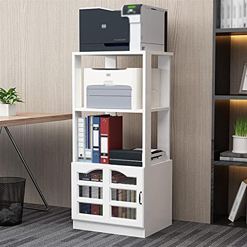 Soporte escritorio para soporte de impresora Impresora de pie Stand de 3 capas Impresora de gran capacidad para 3 capas, para la sala de estar de oficina, máquina de estante del escáner del escáner co