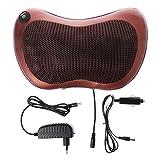 Mikiya - Cojín de masaje eléctrico lumbar para cuello, espalda Shiatsu masajeador, cojín Heat Car Home EU Plug