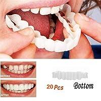 20ピースボトム化粧品歯コンフォートフィットフレックス化粧品歯コーブ義歯歯のホワイトニングスナップオンインスタント笑顔サイズフィット